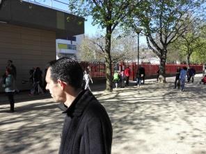5 avril 2016 - Patrice, devant l'école Guy Môquet